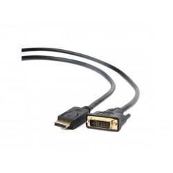 Cordon Display Port Mâle vers DVI-D 24+1 Contact Or 1,80m