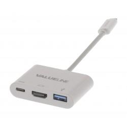Adaptateur USB-C 3.1 Mâle vers USB-C F - HDMI F - USB3.0 F - 15cm