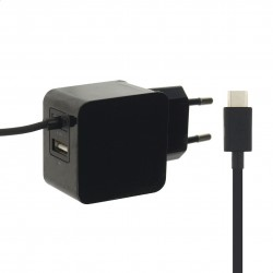 Chargeur secteur 2 prises USB - 3.1A -USB F/USB-C