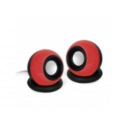 Enceintes stéréo 6W - Jack 3.5 mm Rouge