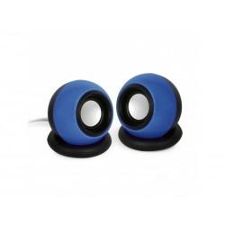 Enceintes stéréo 6W - Jack 3.5 mm Bleu