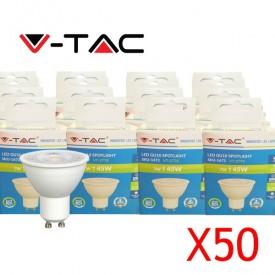 Pack 50 ampoules LED V-TAC VT-2778 7W GU10 3000K