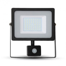 Projecteur LED V-TAC VT-4955 50W IP44 Avec detecteur 4000K