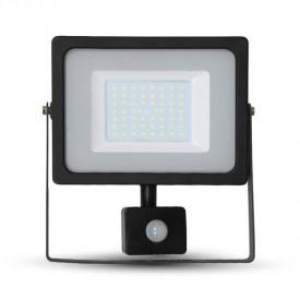Projecteur LED V-TAC VT-4955 50W IP44 Avec detecteur 6400K