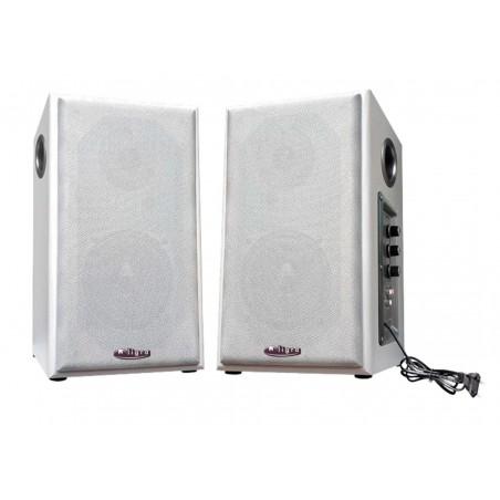 Enceintes amplifiées Education 2x50W - Blanc - 5m jack 3,5mm mâle