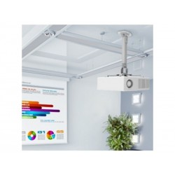 Support VP Plafond ext 38 à 58 cm rotation 360° Inclin 15° Gris