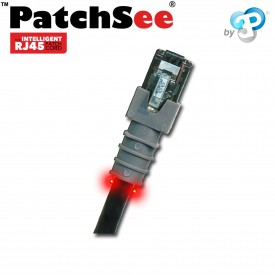 PatchSee 6-U/4 - Cordon RJ45 Cat6a UTP - Noir - 1.20m