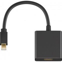 Adaptateur Mini Display M 1.2 vers HDMI F 2.0 4K utlraHD - Noir 20cm