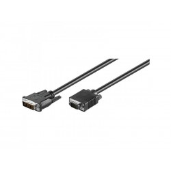 Cordon DVI-A 12+5 Mâle vers VGA Mâle - 1.80m