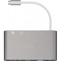 Adaptateur USB-C vers RJ45/Mini Display/ HDMI, VGA, 3xUSB3.0, SD