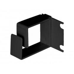 Anneau passe câble noir pour rack - Dim. 44 x 53 x 19 mm