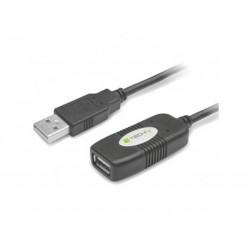 Rallonge Amplifiée USB2.0 A/A Mâle/Femelle - 10m