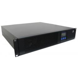 Onduleur Rack/Tour 2U 2KVA/1800W Online prof 454. 4batt. 12V/9AH LCD