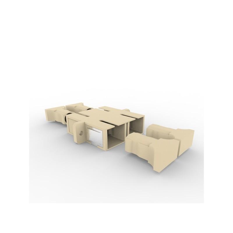 Traversée optique SC/SC duplex multi beige alignement céramique F/F