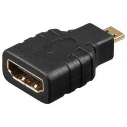 Adaptateur HDMI F vers Micro HDMI Mâle - Monobloc