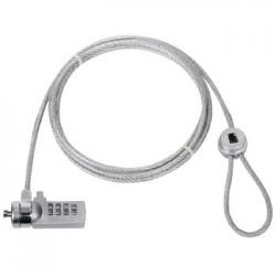 Câble antivol à code 4 Digits, sur encoche - 1.80m
