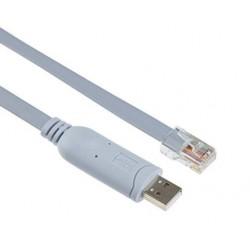 Cordon USB vers RJ45 chipset FTDI - 1,80m