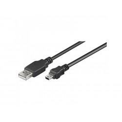 Câble USB Type A Mâle vers Mini USB Type B Mâle - 1,80m