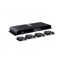 Extendeur HDMI 1 vers 4 - IR sur Câble RJ45 Cat6/6A/7 jusqu'à 120m
