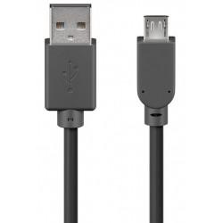 Câble USB 2.0 Type A Mâle vers Micro USB B / Mâle - Noir - 5 m