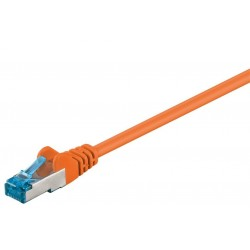 Cordon RJ45 Cat6a S/FTP Cuivre LSZH Orange