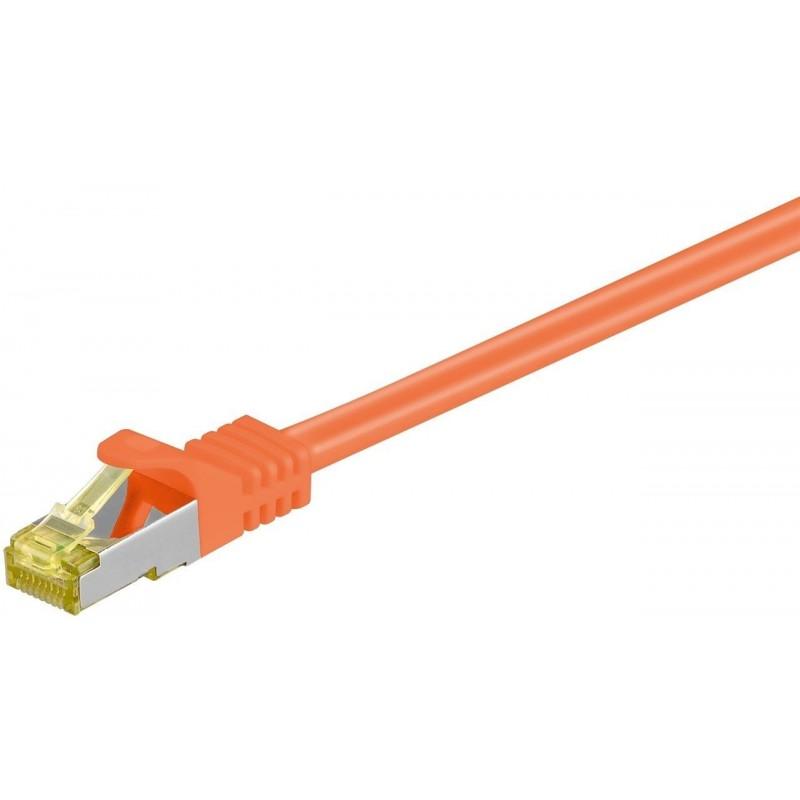 Cordon RJ45 Cat7 S/FTP Cuivre LSZH Snagless Orange