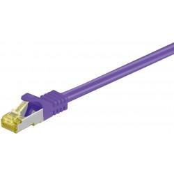 Cordon RJ45 Cat7 S/FTP Cuivre LSZH Snagless Violet