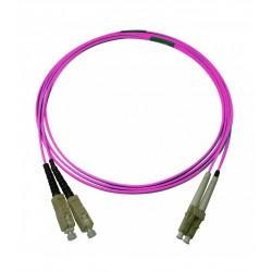 Jarretière Duplex LSOH 50/125 Multi OM4 100Gb LC UPC/SC UPC Erika