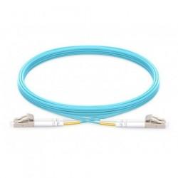 Jarretière Duplex LSOH 50/125 Multi OM3 10Gb LC UPC/LC UPC aqua