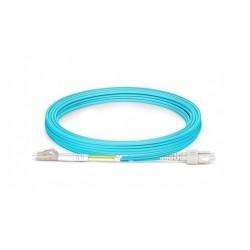 Jarretière Duplex LSOH 50/125 Multi OM3 10Gb LC UPC/SC UPC Aqua
