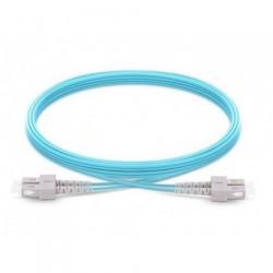 Jarretière Duplex LSOH 50/125 Multi OM3 10Gb SC UPC/SC UPC Aqua