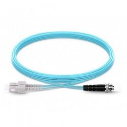 Jarretière Duplex LSOH 50/125 Multi OM3 10Gb SC UPC/ST UPC Aqua