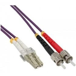 Jarretière Duplex LSOH 50/125 Multi OM4 100Gb LC UPC/ST UPC Violet