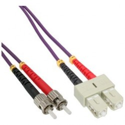 Jarretière Duplex LSOH 50/125 Multi OM4 100Gb SC UPC/ST UPC Violet
