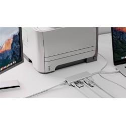 Docking Station USB-C vers USB A, C, HDMI 4K, RJ45 et lecteur SD