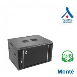 """Coffret 19"""" 6U dim 600x450x368 Porte ventilé - Monté - Charge 60Kg"""