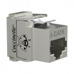 Jack coccinelle RJ45 Cat6 FTP AWG22-23