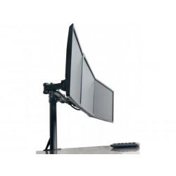 """Support 3 écrans """"etaux"""" 13""""-24"""" - 10 Kg par fixation - Vesa 100x100"""