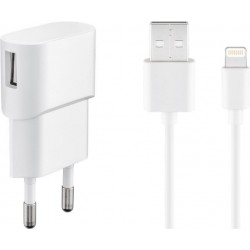 Kit Chargeur + câble USB Apple Lightning - 1m