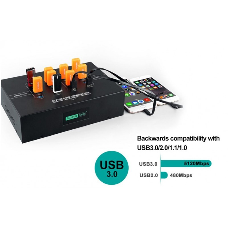 Hub de chargement 30 ports USB3.0