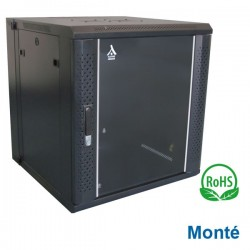 """Coffret 19"""" 12U Pivotant dim 600x600x635 - Monté - Charge 60Kg"""