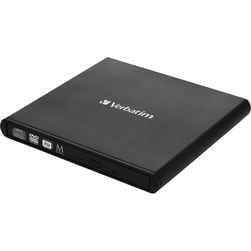 VERBATIM - Graveur CD / DVD Externe Slimline, USB 2.0
