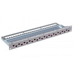 Panneau équipé 24 ports 1U blindé C6A ISO gris R&M R509882