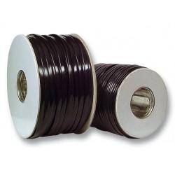 Câble téléphonie plat 6 cond Noir - 100m