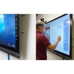 Ecran intéractif capacitif tactile LCD Led HD 4K Win/And +HP 65p