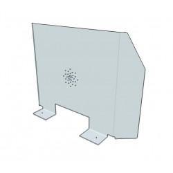 Protection Plexiglas 5mm à visser sur Bureau L60 x H65 x P20 cm