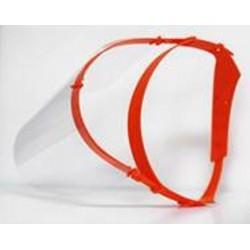 Visière de protection - orange unitaire - 10p par carton