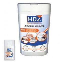 60 lingettes désinfectantes ASEPTI WIPES - 13X15cm EN14476