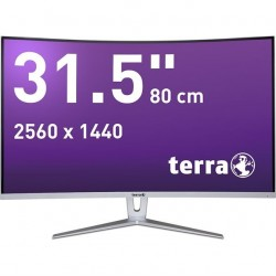 "Ecran 31.5"" TERRA LED 3280W silver/white CURVED DP/HDMI"