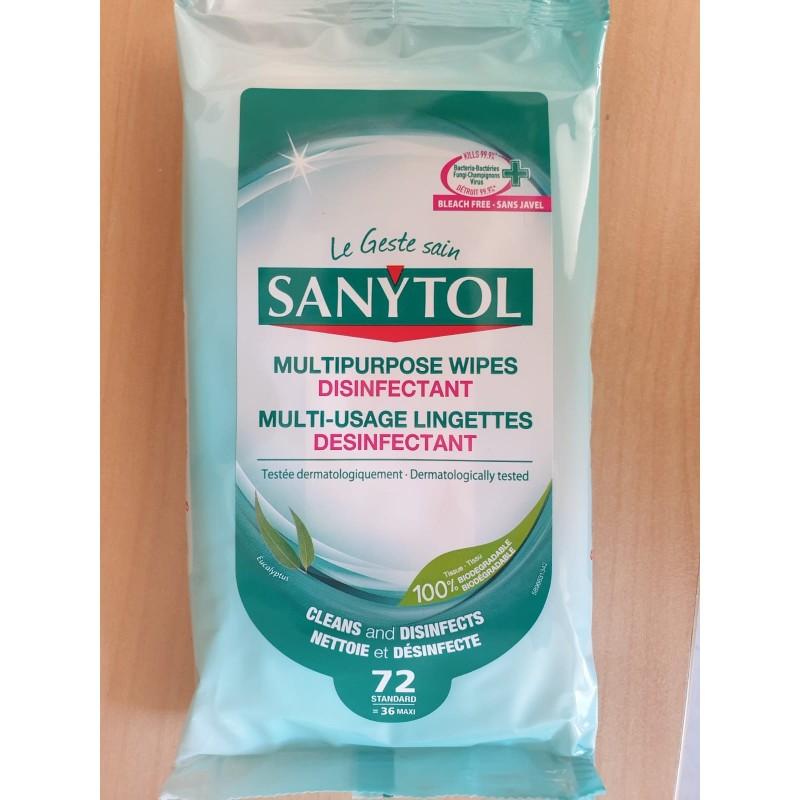 72 lingettes désinfectantes SANYTOL - EN1 4476